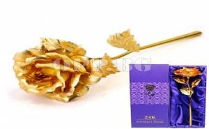 Уникална Ръчно Изработена Златна Роза