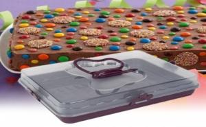 Правоъгълна Кутия за Торта и Сладкиши с Дръжка Пеперуда