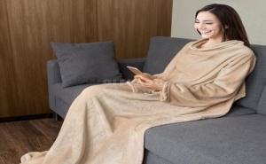 Топло Плюшено Одеяло с Ръкави