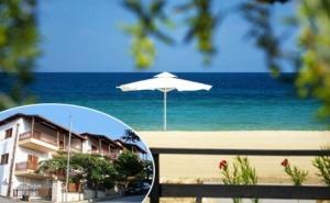През Лятото на 200М. от Плажа на Неа Рода,<em>Халкидики</em>! Нощувка в Двойно,тройно или Четворно Студио в Хотел Alexandra,гърция!
