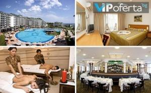Пакет със закуска, обяд и вечеря + масаж на гръб във Виктория СПА Център в Emerald Beach Resort &amp; Spa *****, <em>Равда</em>