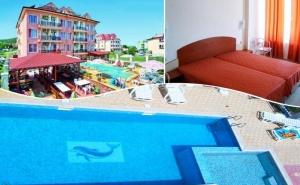 Нощувка,  Закуска или Закуска и Вечеря на човек + Басейн в Хотел с Вълчеви, в <em>Обзор</em> на 100 М. от Плажа