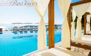 Нощувка на човек със Закуска + Басейн и Частен Плаж от Бутиков Хотел Red Tower, Никиана, о. <em>Лефкада</em>, Гърция