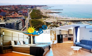 През юни в Поморие! 2 или 3 нощувки за двама или четирима на 20 м. от морето в бутиков хотел Дюн