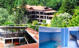 Нощувка на човек със закуска, обяд, вечеря + минерален басейн в хотел Илинден, Шипково до <em>Троян</em>.