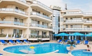 Лято 2019Г. в <em>Черноморец</em>! Нощувка със Закуска + Басейн, Шезлонг и Чадър в Семеен Хотел Адена на 150М., от Плажа!