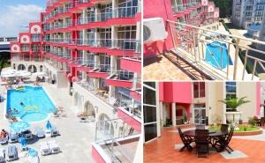 Юни в <em>Слънчев бряг</em>! Нощувка на човек + басейн в Апарт хотел Роуз Гардън