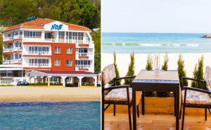 На Брега на Морето през Юли и Август! Нощувка със Закуска в Хотел Ной, К.к Чайка!