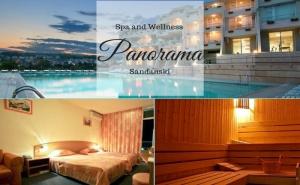 Нощувка на човек със Закуска или Закуска и Вечеря +Открит Минерален Басейн и Сауна от Хотел Панорама, <em>Сандански</em>