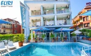 Море 2019Г. в <em>Несебър</em>! Нощувка със Закуска и Вечеря + Басейн в Хотел Елири, на 100М. от Плажа!