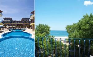 Море на Първа Линия на К-г Градина! Нощувка за Двама или Четирима + Бесейн, Шезлонг и Чадър в Хотел Гардън Бийч, Созопол!