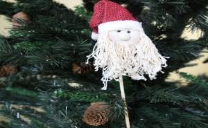 Забавна Декорация за Саксия Дядо Коледа