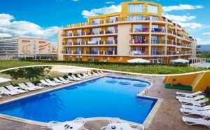 Нощувка на човек на База All Inclusive + Басейн + Шезлонг и Чадър на Плажа в Хотел Ориос***, <em>Приморско</em>