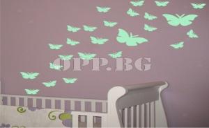 Флуоресцентни Пеперуди за Детска Стая
