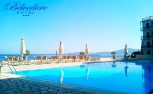 Лято 2019 на Първа Линия на о. Корфу, Гърция! Нощувка в Двойна Стая Стандарт на човек на База All Inclusive + Басейн  в Хотел Belvedere***