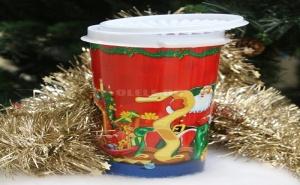 Коледна Кофичка за Лакомства с Капак