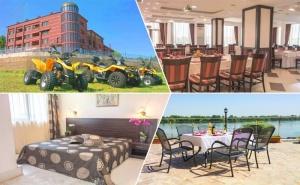 2 Нощувки на човек в Луксозен Апартамент със Закуски и Вечери + Офроуд или Разходка с Лодка от Хотел Престиж, <em>Белене</em>, на Брега на Река Дунав