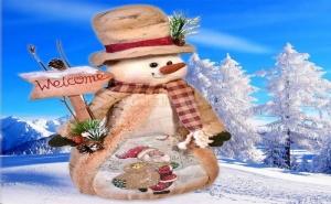 Коледен Снежен Човек Welcome