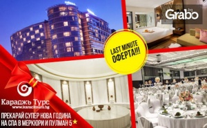 Луксозна Нова Година в Истанбул! 3 Нощувки със Закуски и Празнична Вечеря в Mercure & Pullman Spa Istanbul Airport Hotel 5* и Транспорт