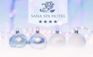 Коледа в хотел Сана Спа****, Хисаря! 2 нощувки за ДВАМА със закуски и вечери, едната празнична + минерален басейн и СПА пакет