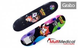 Подари на детето за Коледа скейтборд Yo-Kai Watch
