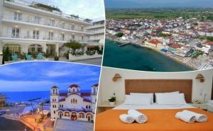 Море 2020 в Олимпийската Ривиера, Гърция на Топ Цена! Нощувка на човек със Закуска или Закуска и Вечеря в Хотел Poseidon