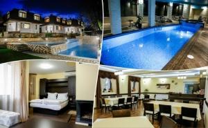 Нощувка на човек със закуска и вечеря  + външен минерален басейн от хотел СПА Оазис, Огняново