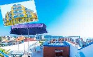 Нощувка на човек в семеен хотел Темида, Приморско, на 50м. от плажа