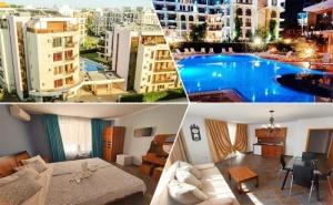 Нощувка в едноспален апартамент за ЧЕТИРИМА от апарт хотел Магнолия Гардън, Слънчев бряг