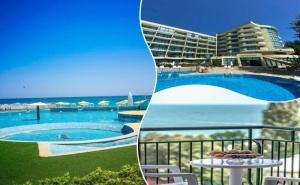 02 - 24 Август в <em>Златни Пясъци</em> на 30М. от Плажа! Нощувка на човек на База All Inclusive + Басейн в Хотел Палм Бийч