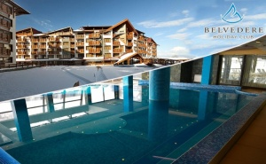 Нощувка на човек в апартамент + басейн и релакс зона от Белведере Холидей Клуб, Банско