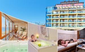 Нощувка на човек със закуска и вечеря + 2 процедури на ден + панорамна термална зона от хотел Св. Св. Петър и Павел***, Поморие