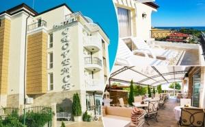 Нощувка с Изглед Море на Цени от 20 лв. на човек в Хотел Прованс, <em>Ахелой</em>. Дете до 12Г. Безплатно!!!