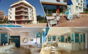 Нощувка на човек в Апартамент с Гледка Море + Басейн в Хотел Руби, Слънчев Бряг