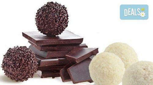 Един Килограм Домашни Шоколадови Топки с Кокос или Шоколад от Сладкарница Орхидея