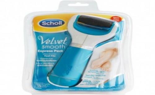 Scholl Velvet Smooth Express Pedi електрическа пила срещу груба кожа по стъпалата.