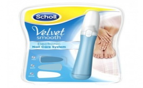 Електрическа пила за нокти Scholl Velvet Smooth Electronic Nail System с 3 приставки