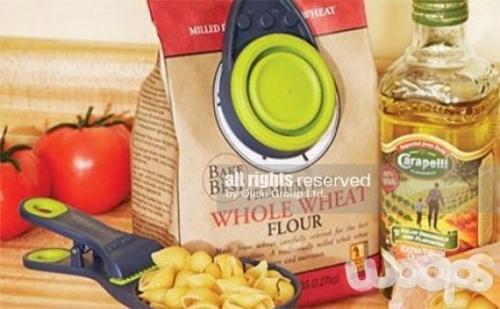 Гребалка Щипка за Хранителни Продукти 3 в 1 Klipscoop