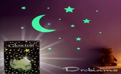 Комплект от Светещи Звездички и Луна