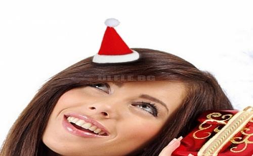 Щипка за Коса Коледна Шапка