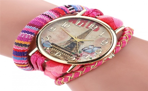 Елегантен Часовник с Декоративна Плетка Paris