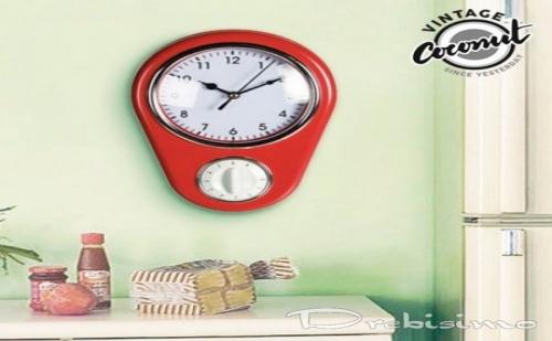 Винтидж Стенен Часовник с Таймер
