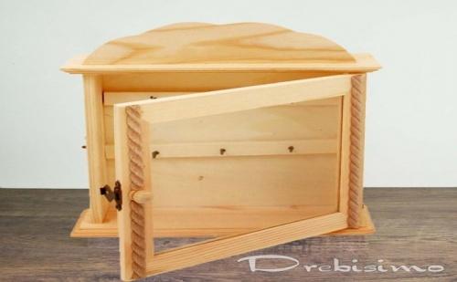 Дървена Кутия за Ключове със Стъклена Врата