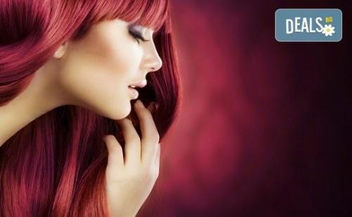 Внесете Цвят в Косите си! Боядисване с Боя на Клиента, Масажно Измиване, Маска и Сешоар - Прав или Букли в Marbella Beauty Studio!