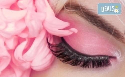 Удължаване и Сгъстяване на Мигли Чрез Метода 3D или 5D - Руски Обем от Салон Flowers 2 в Хаджи Димитър