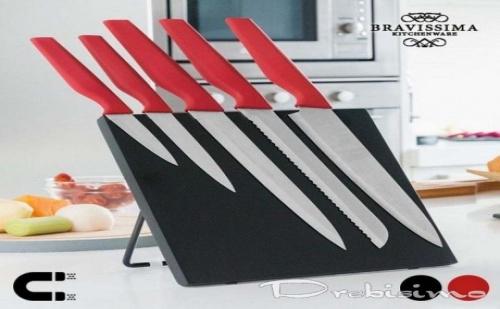 Ножове с Магнитна Поставка Bravissima Kitchen