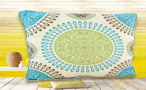 Декоративна Възглавница Синьо Mandala Style