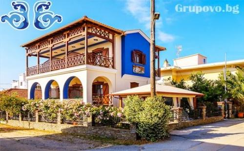 Септември на Остров Амулиани, Гърция на 50М. от Плажа! Нощувка със Закуска за Двама в Семеен Хотел Ниридес