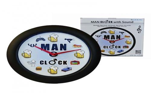 Мъжки Стенен Часовник със Звук