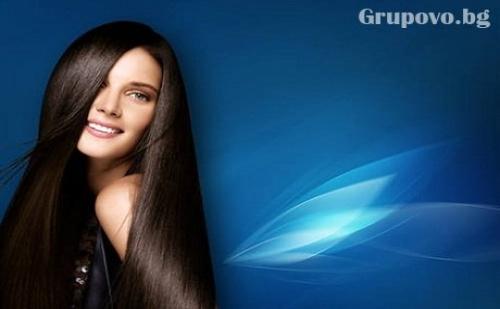 Терапия за коса против косопад и за ускорен растеж с капсаицин + сешоар само за 12.90 лв. в студио за красота Абрил